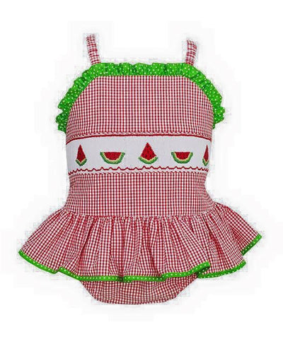 Watermelon Smocked Swim Suit