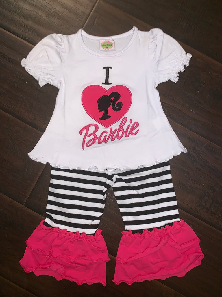 I love Barbie Knit Pant Set