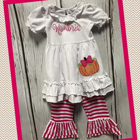 Pumpkin Knit Pant Set