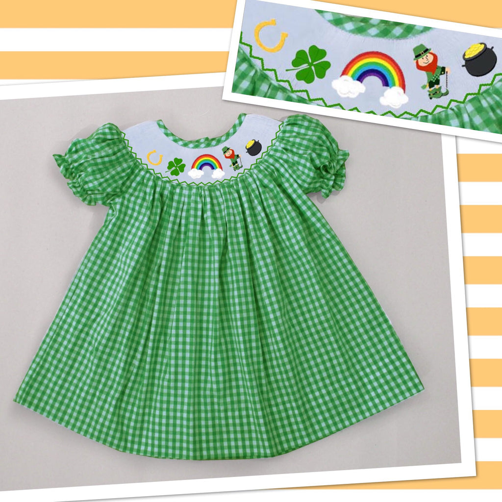 St. Patrick's Day Check Dress - PRE SALE SHIPPING  JANUARY