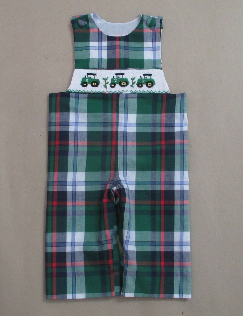 Tractor Plaid Smocked Longall