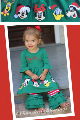Knit Mouse Friends Christmas Knit Pant Set - Ready to Ship