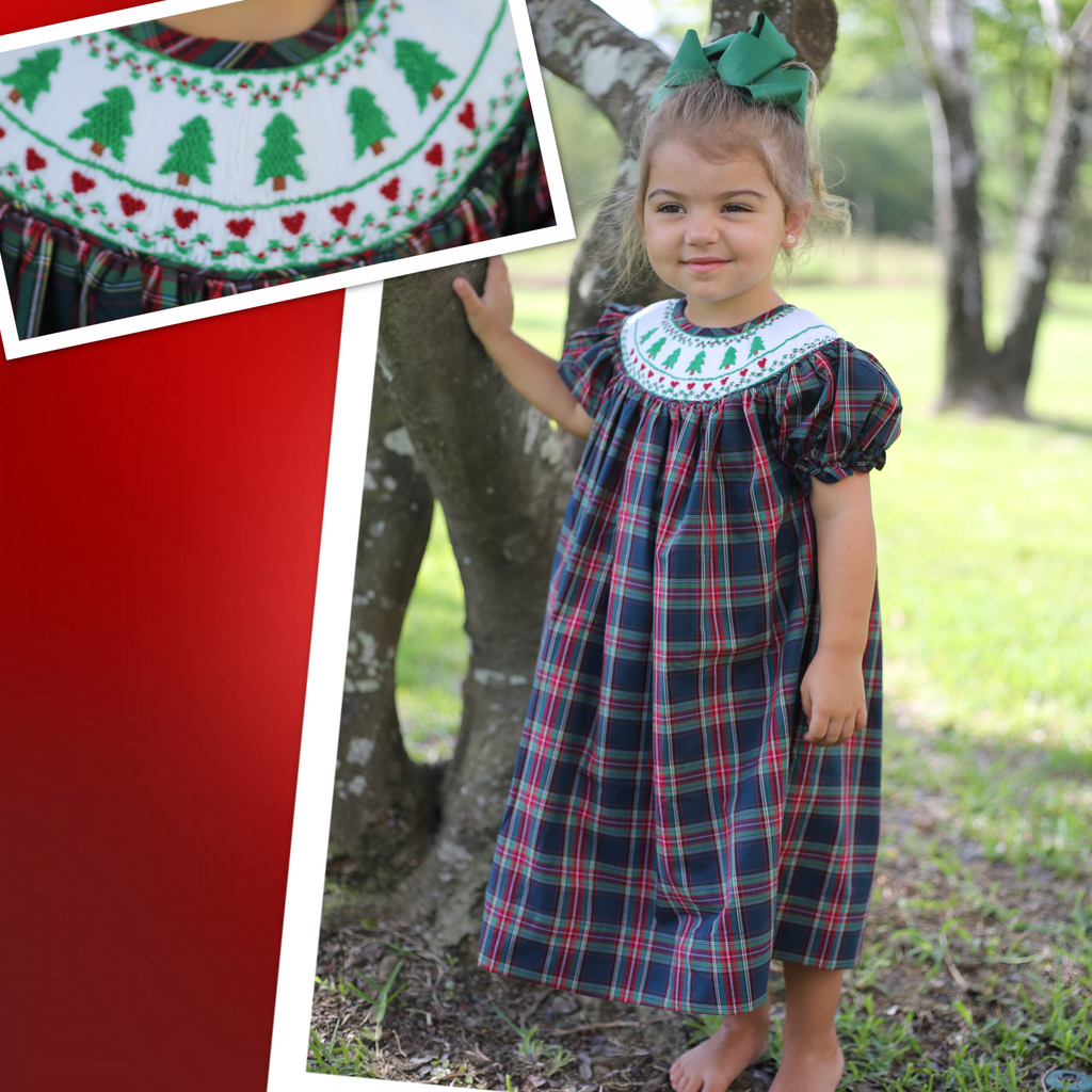 Plaid Christmas Tree Love Dress -