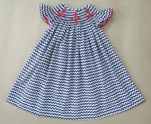 Chevron Anchor Dress