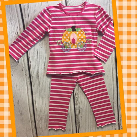 Girls Pink Pumpkin Lounge Wear