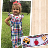 Bus and Apple Plaid Dress 18