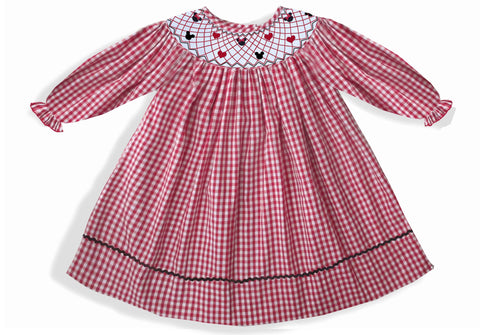 Mouse Love Smocked Long Sleeve Dress