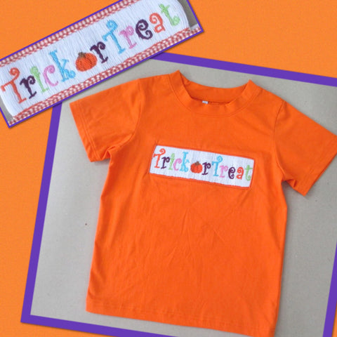 Trick or Treat Orange Tee Shirt