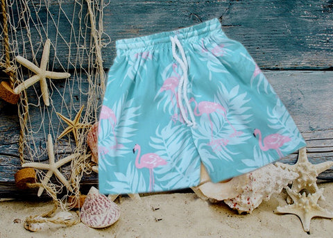Flamingo Boys Swim Trunks / Shorts