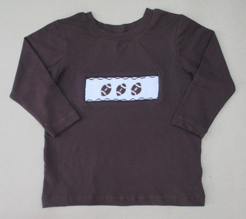 Smocked Football Tee Shirt