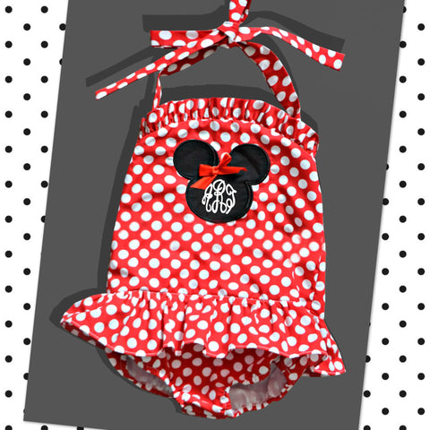 Red Mouse One Piece Swim Suit - Ready to ship