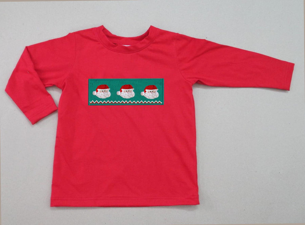 Santa Smocked Boys Tee - Ready to Ship