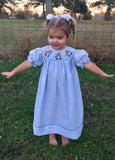 Peter Rabbit Inspired Smocked Bishop