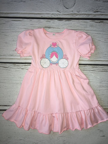 Pink Princess Carriage Knit Dress