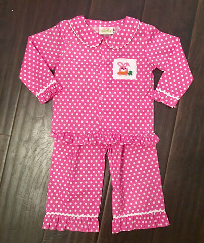 Easter Girls Pink Polka Dot Lounge Wear