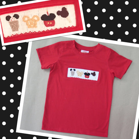 Mouse Treats Boys Smocked Tee Shirt