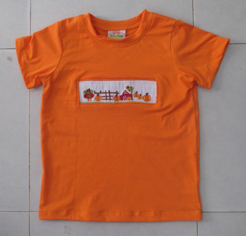 Fall Farm Smocked Tee Shirt