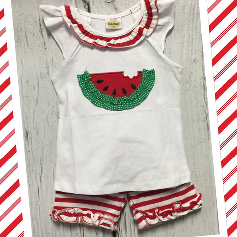 Knit Watermelon Short Set