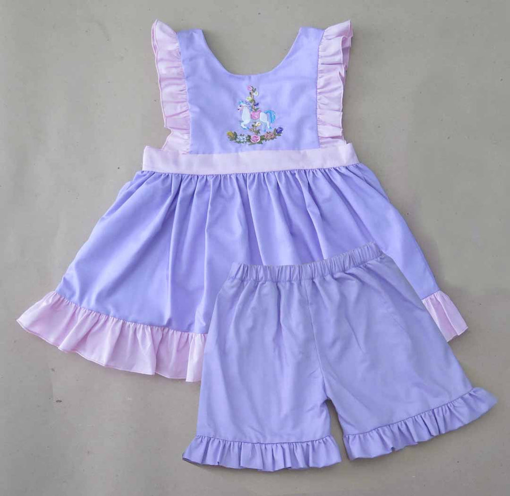 Carousel Horse Short Set