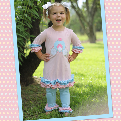 Princess Carriage Tunic Pant Set