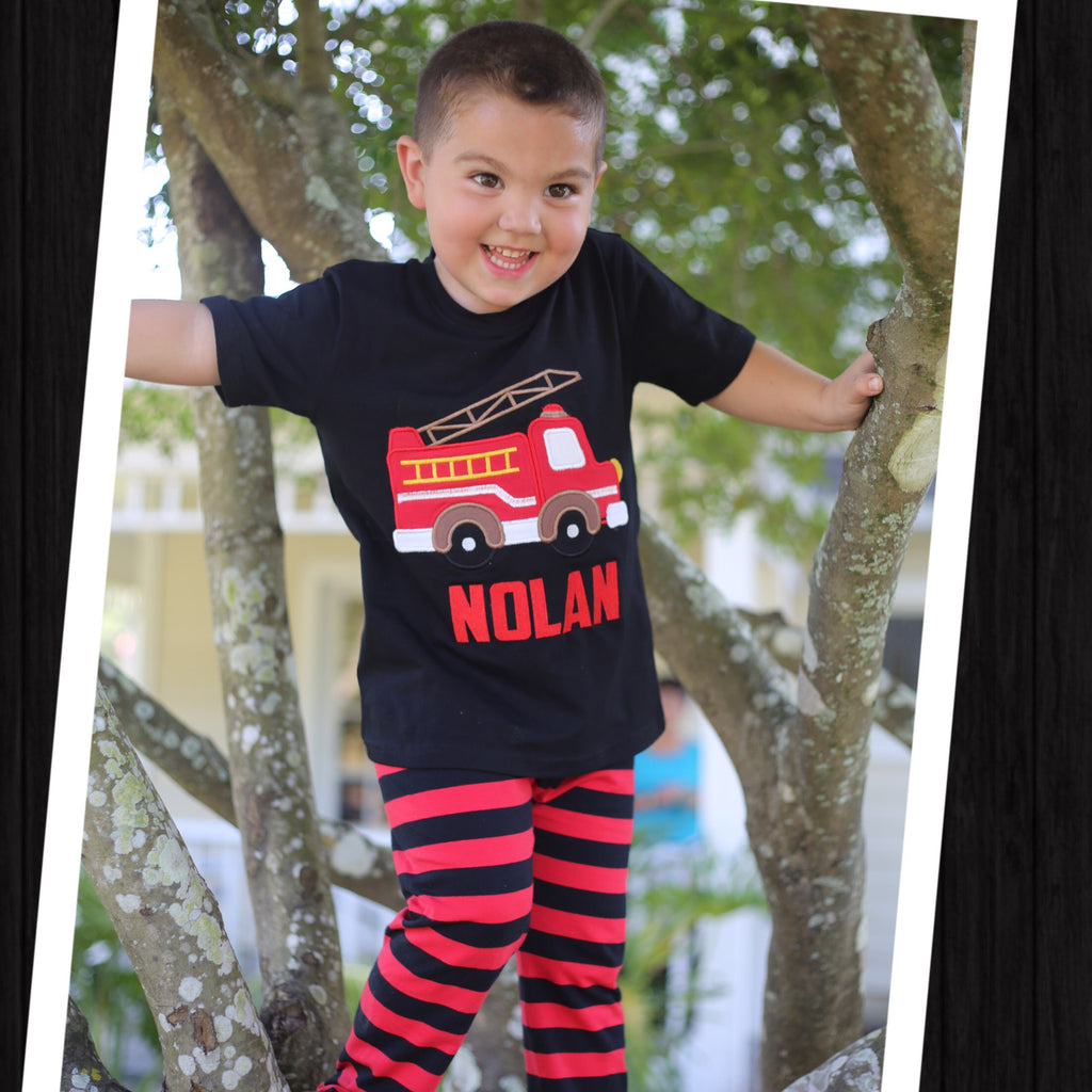 Fire Truck Boys Pant Set