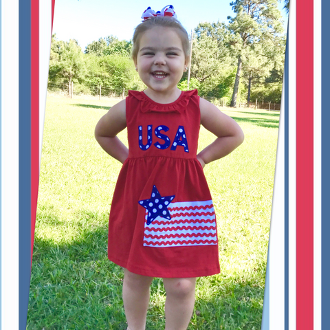 USA Flag knit dress