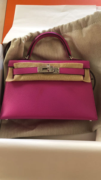 54edd4fb736f hermes kelly 20 rose pourpre epsom palladium. Londonista Boutique. hermes  kelly 20 rose ...