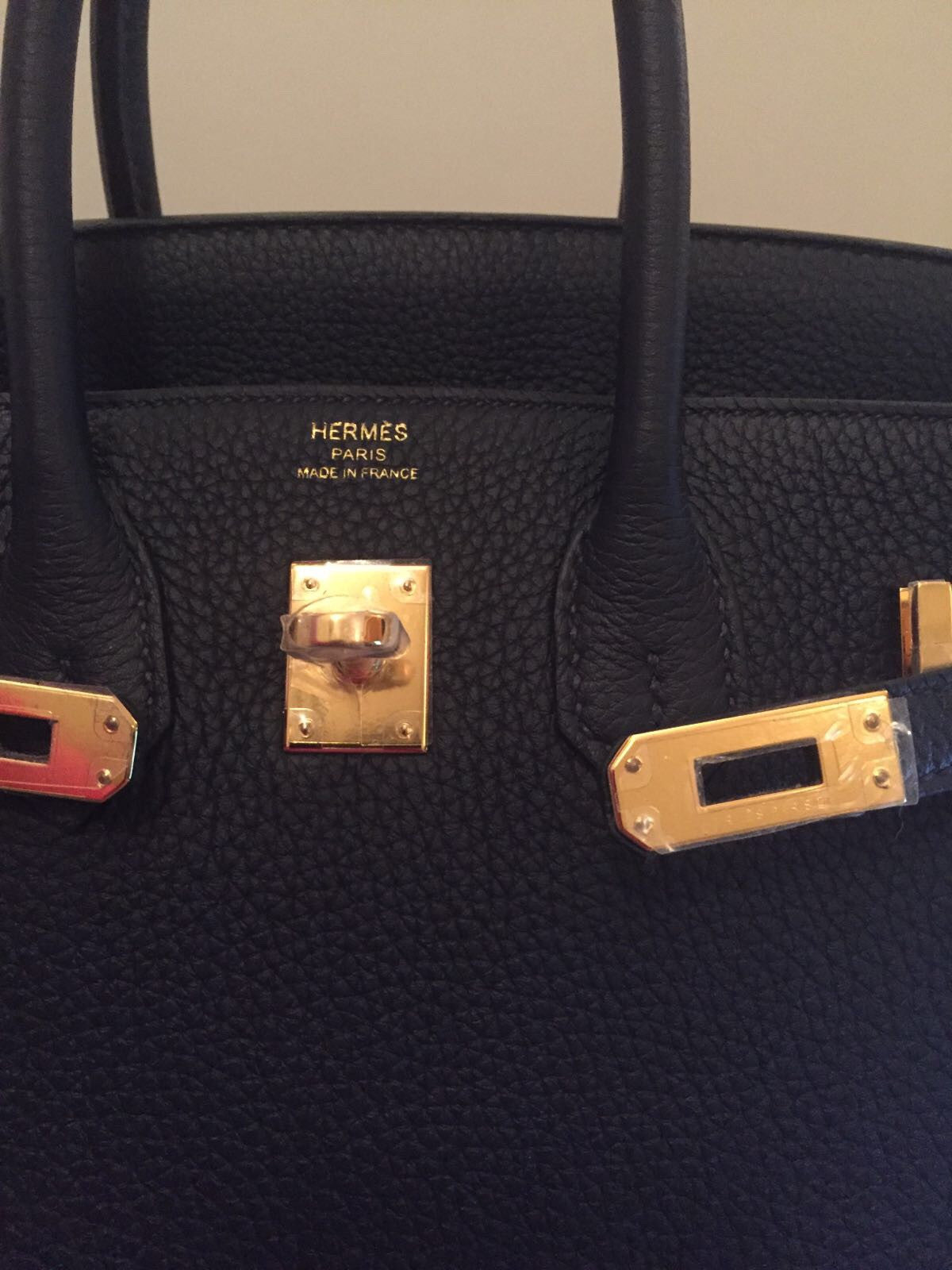 77d35fa46edd New Hermes Birkin 25 blue nuit (dark blue) Togo gold hardware full ...