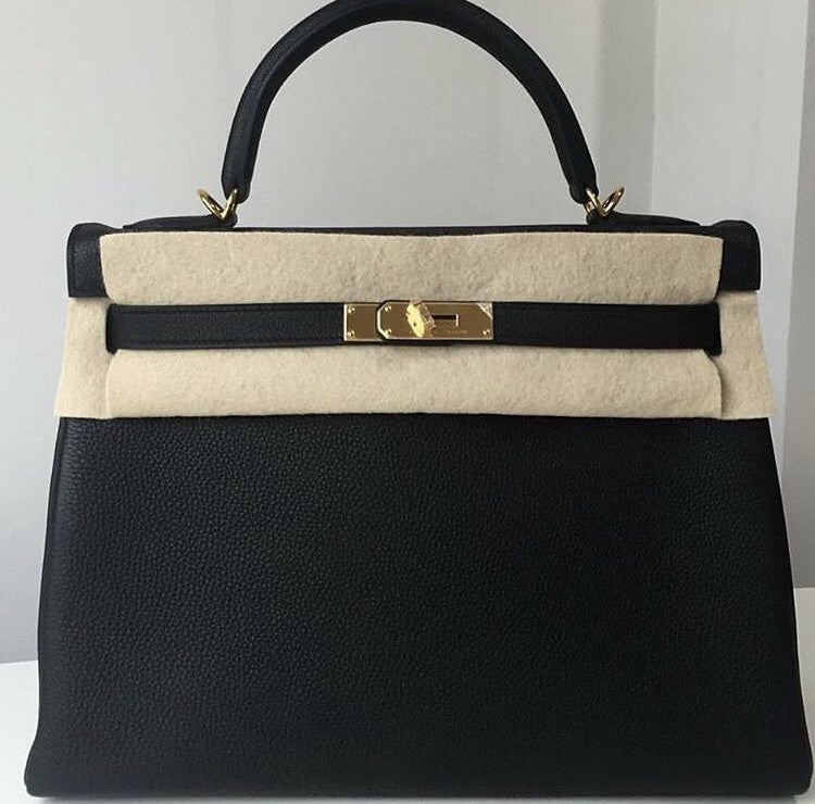 a31f730209fc Hermes Kelly 32 black (noir) Togo gold hardware
