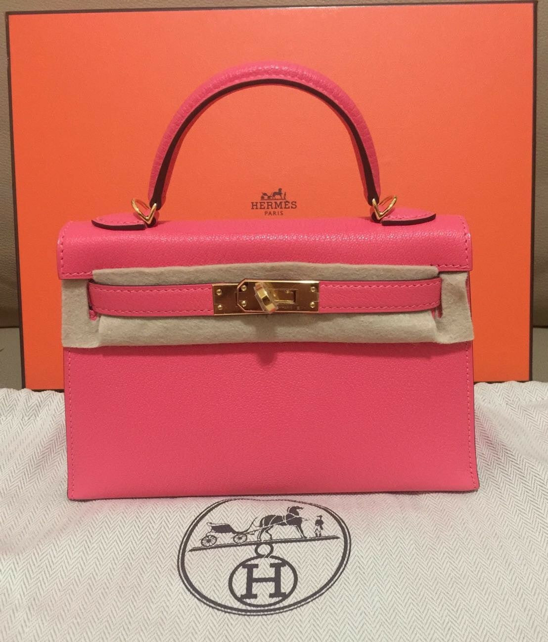 9d5ab4cdc089 Hermes mini Kelly 20 rose lipstick – Londonista Boutique