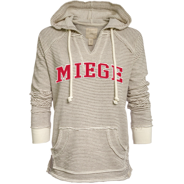 Hoodie - Striped French Terry V-Neck