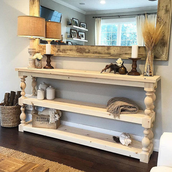 Three Shelf French Country Console