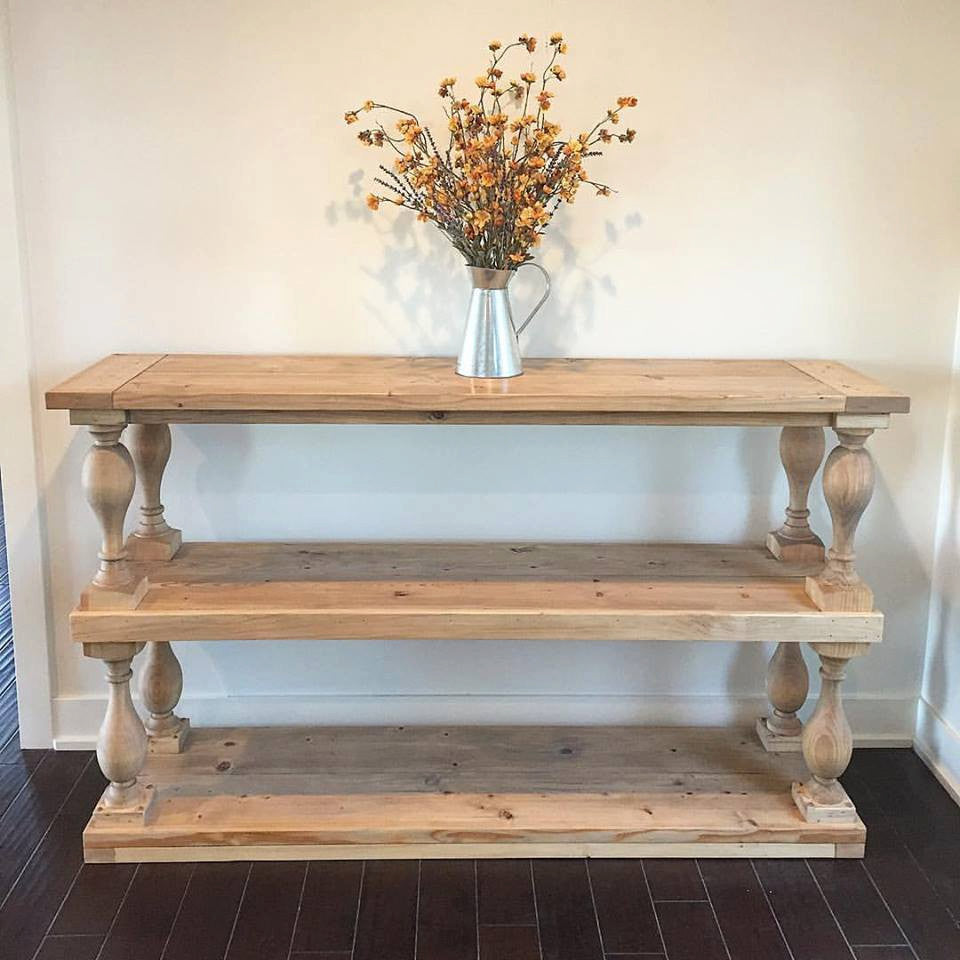 Cottage Baluster Console Table. Salt Creek Farmhouse
