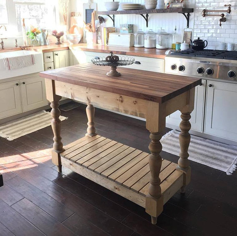 Farmhouse Butcherblock Kitchen Island