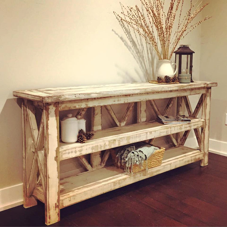 Distressed Country Farmhouse Console