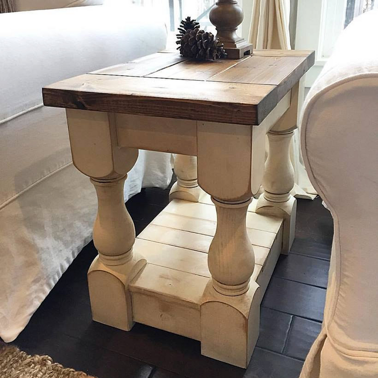 Farmhouse Harvest End Table