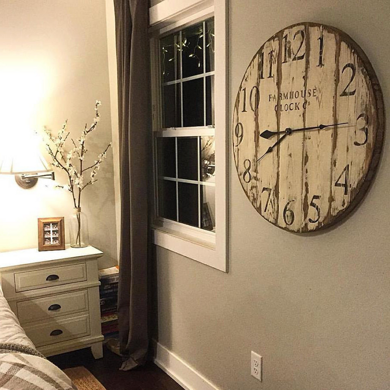 Farmhouse Clock Co. Distressed Wall Clock