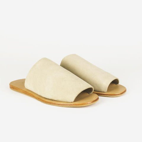 Natural Leather Slides for Christmas
