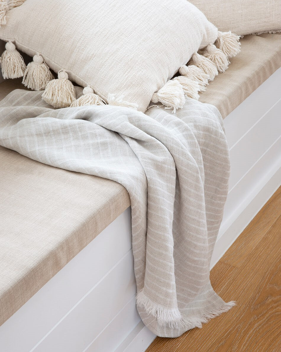 Dune Linen Beach Towel - Weave and Willow