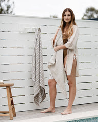 Bay Linen Beach Towel - Weave and Willow