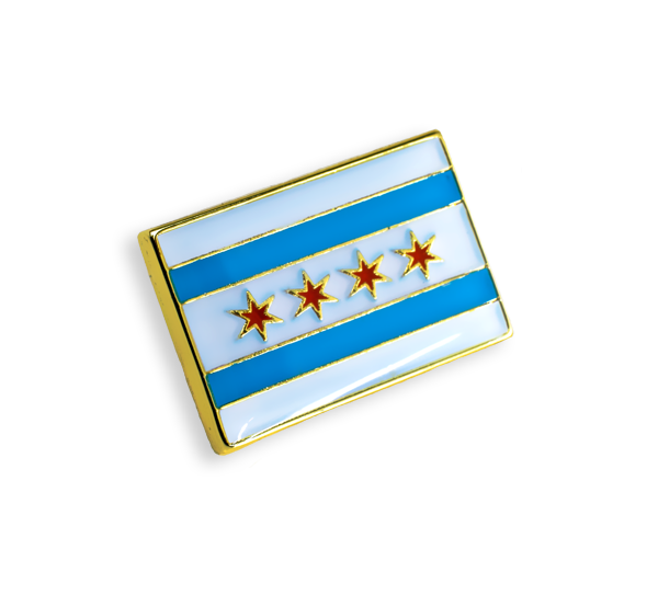 'Chicago Flag' Pin