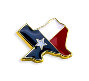 'Texas' Flag Pin
