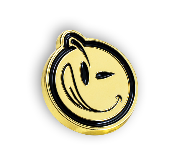 'YUMS' Gold/Black Pin