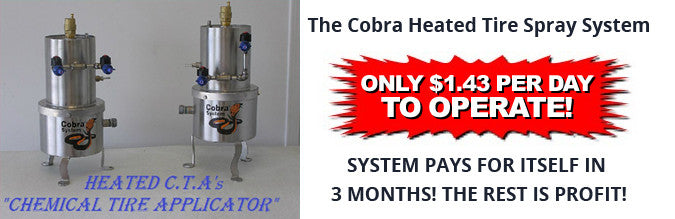 Automatic Wheel Cleaner, CTA - Cobra Heated Tire Spray System