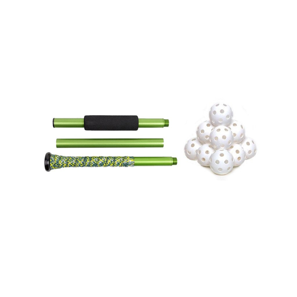 3-Piece Training Bat + Wiffle Ball Combo