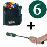 Indoor Training Package #1: Insider Bat + 120 Training Balls + Ball Bag - Outlet