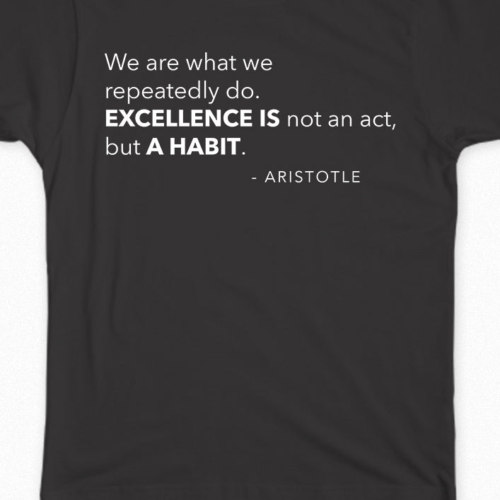 "100% off 10th Anniversary Deal! MaxBP Winter 2019/20 T-Shirt: ""Excellence is a Habit"" - Outlet"