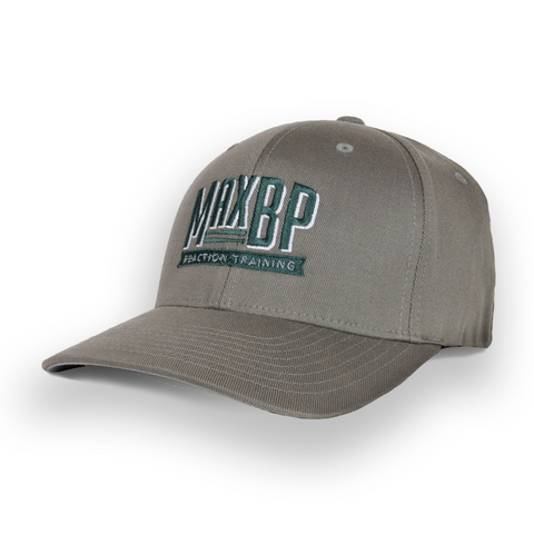 MaxBP Flexfit Gray Logo Hat
