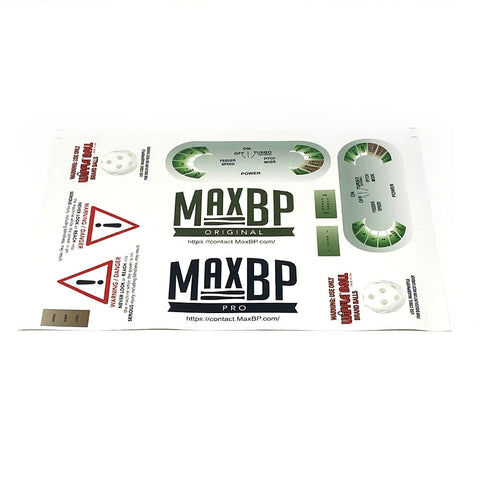 Part: MaxBP Machine Stickers