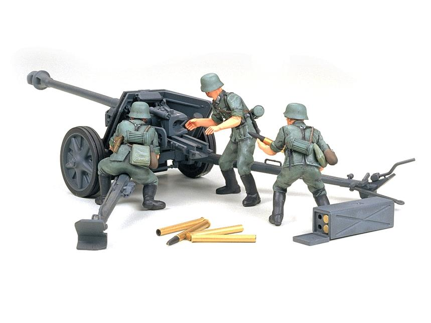 Tamiya 35047 1/35 German 75 mm Anti Tank Gun Kit | Pinnacle Hobby